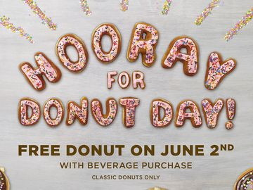 Dunkin' Donuts' National Donut Day Tradition: Free Donut Offer on June 2