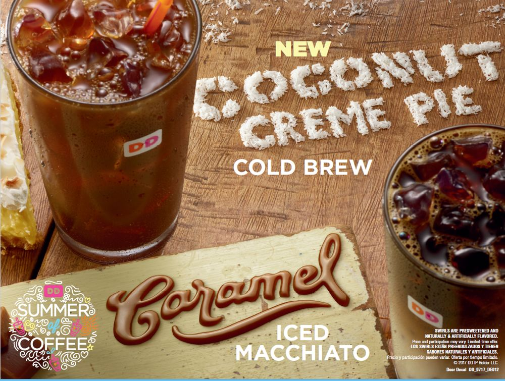 Coconut Creme Pie Cold Brew and Caramel Iced Macchiato