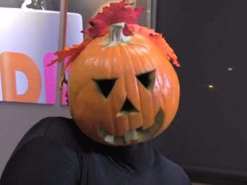 Dancing Pumpkin Man Welcomes the Return of Pumpkin at Dunkin'