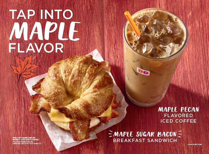 Tap Into Maple on Monday: Free Maple Pecan Coffee And More  at Select Maple Street Dunkin' Donuts Shops on August 28