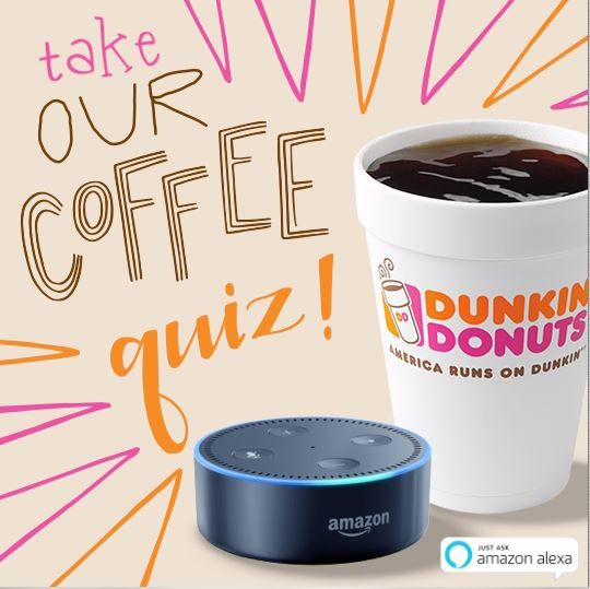 Test Your Coffee IQ with the New Dunkin' Donuts Skill for Alexa