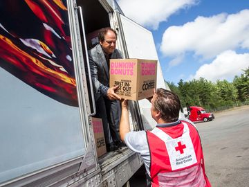 Dunkin' Donuts Donates 14 Tons of Coffee to the American Red Cross