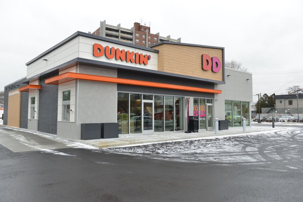 dunkin donuts next generation store grand opening in Framingham