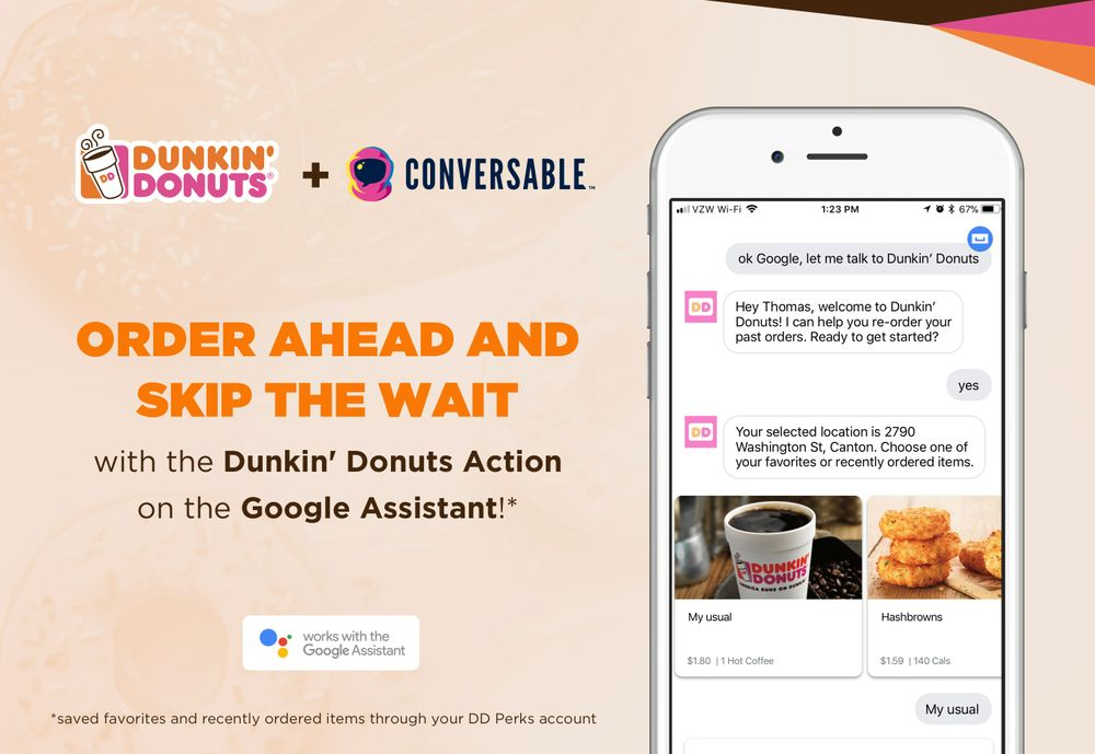 How to Order Dunkin' On-the-Go Mobile Ordering with the Google Assistant