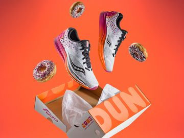Now You Can Run on Dunkin'-inspired Saucony Running Shoes