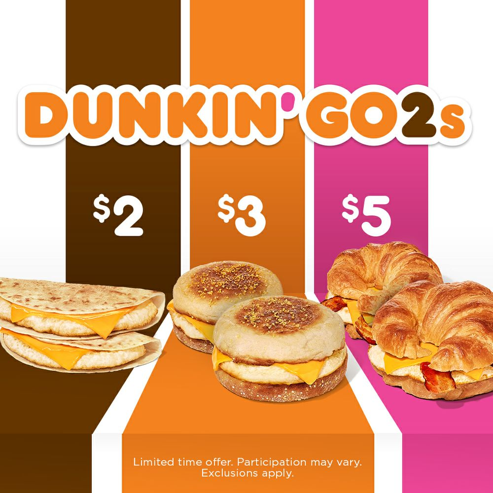 Dunkin' Donuts Doubles Down on Value with Launch of New Dunkin' Go2s