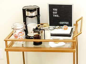 How to Create the Ultimate Coffee Cart at Home Inspired by Dunkin'