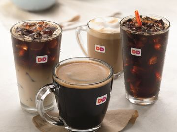 Dunkin Donuts Espresso and Coffee Lineup