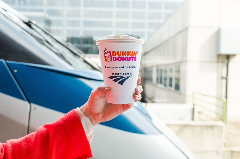 Dunkin' Donuts and Amtrak® Celebrate 1st Anniversary of Partnership
