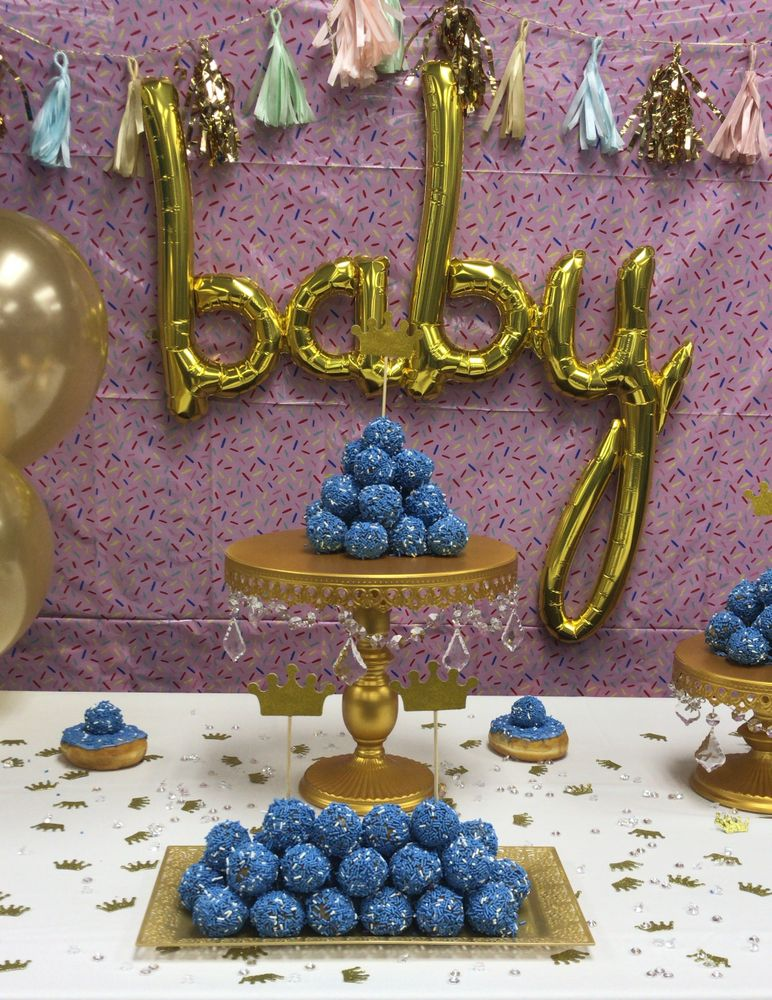 "How to Throw a Dunkin'-Inspired ""Baby Sprinkle"" Fit for Royalty"