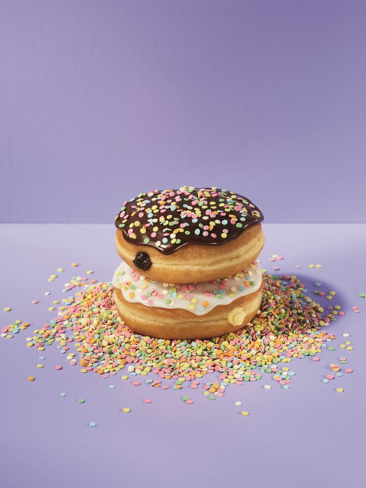 Cake Batter Donuts Lifestyle
