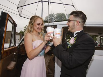 This Couple Went to Prom in True Dunkin' Style