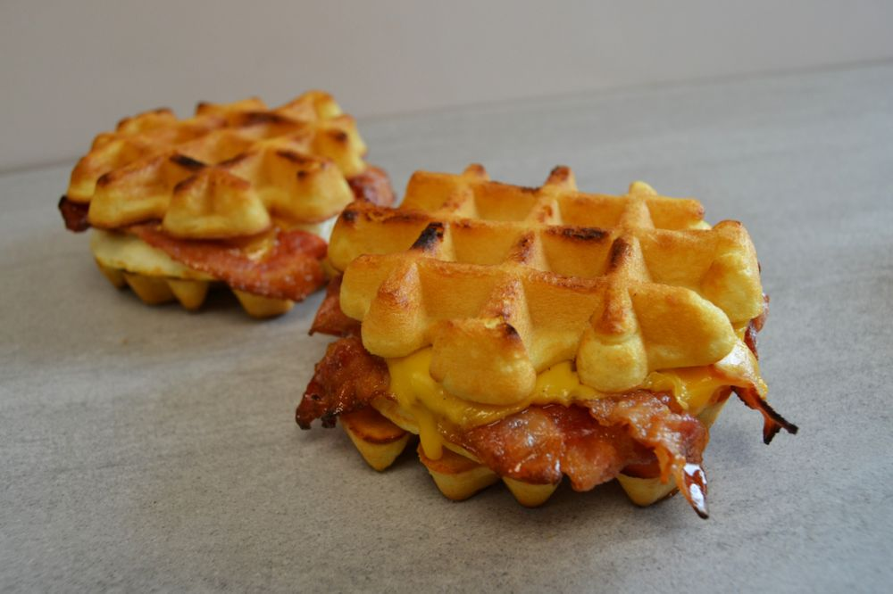 The Story Behind our Belgian Waffle Breakfast Sandwich for National Waffle Day