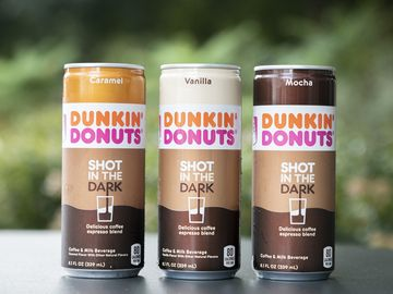 Little Can, Big Recharge: Dunkin' Donuts Launches Shot in the Dark Coffee Espresso Blend, Its First-Ever Beverage in a Can