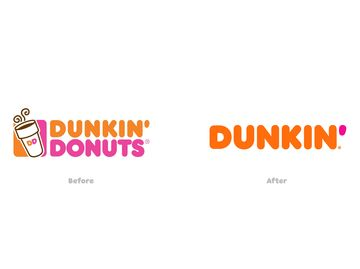 Dunkin' Branding Before and After