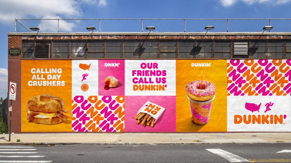 Examples of Dunkin' Branding