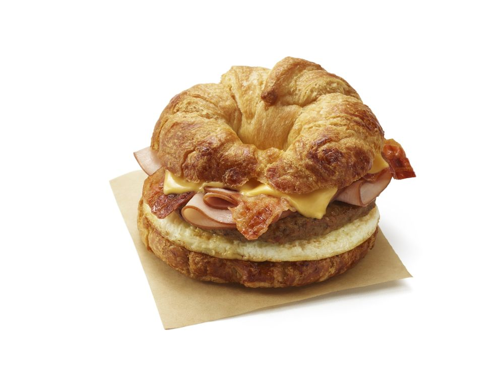 No Need to Choose Between Bacon, Ham or Sausage…  Dunkin's New All You Can Meat Breakfast Sandwich Has Them All