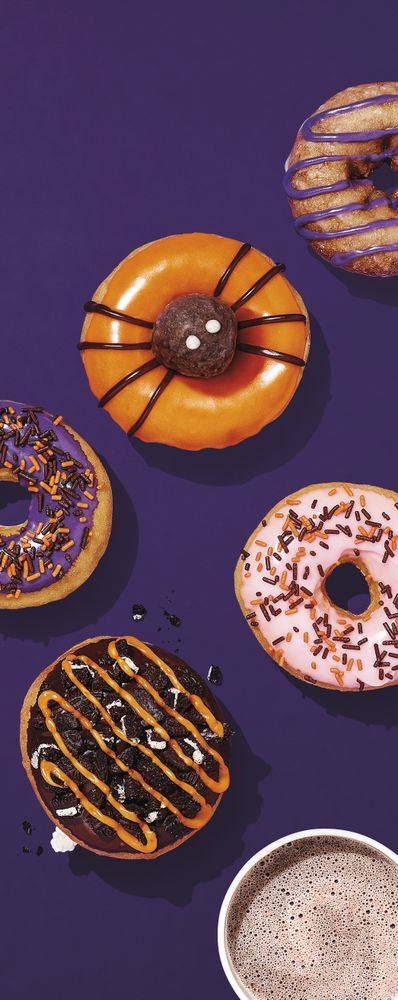Halloween Donuts and OREO Hot Chocolate Lifestyle