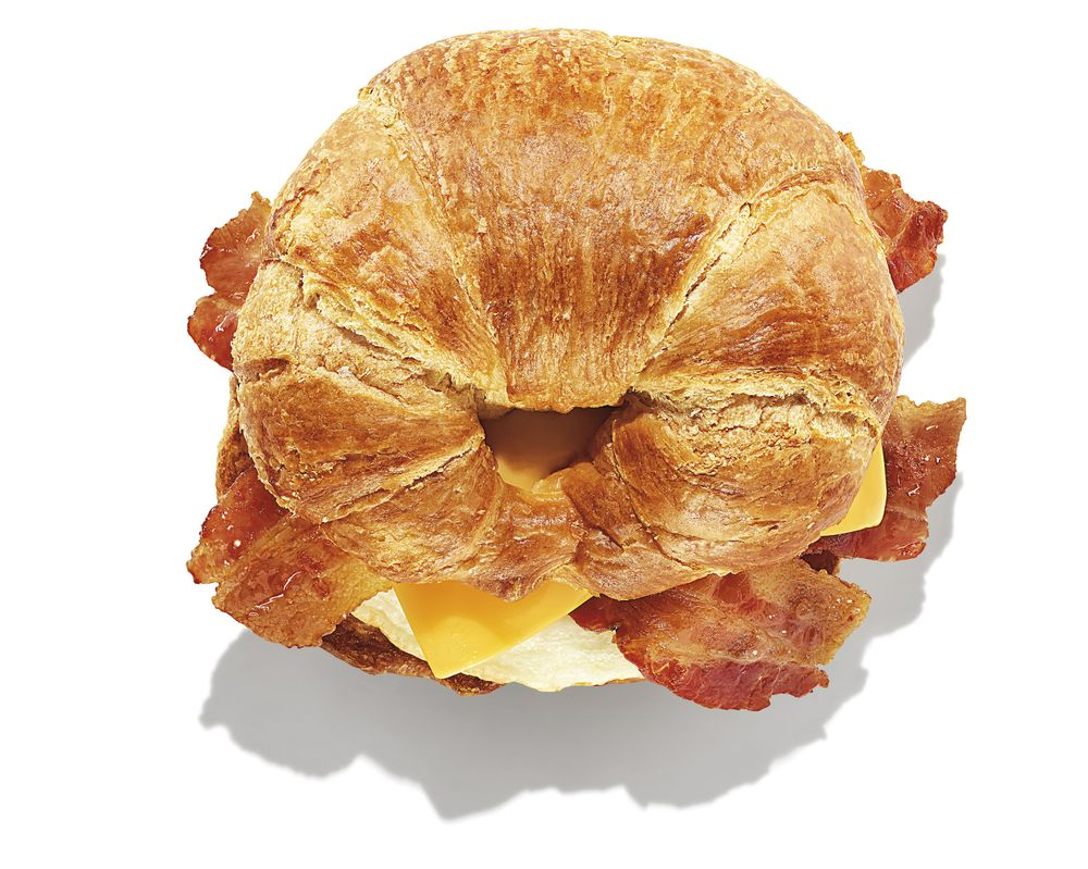 Bacon Egg and Cheese on Croissant