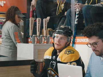 """Pasta"" with a Side of Cold Brew: Boston Bruins' David Pastrnak and Dunkin' Team Up for a New Campaign to Prove Where There's Hockey, There's Dunkin'"