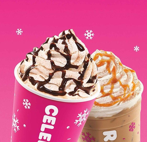 Introducing Holiday Flavored Signature Lattes At Dunkin