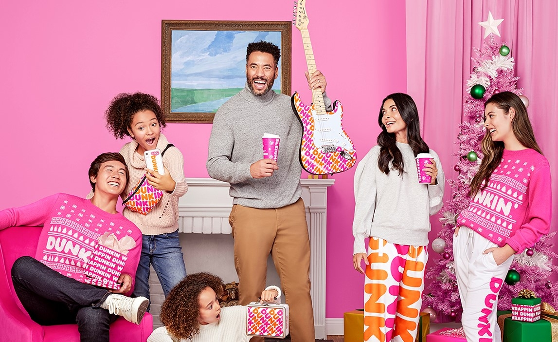 Dunkin' Drops Exclusive Holiday Merch On First-Ever Online Pop-Up Shop