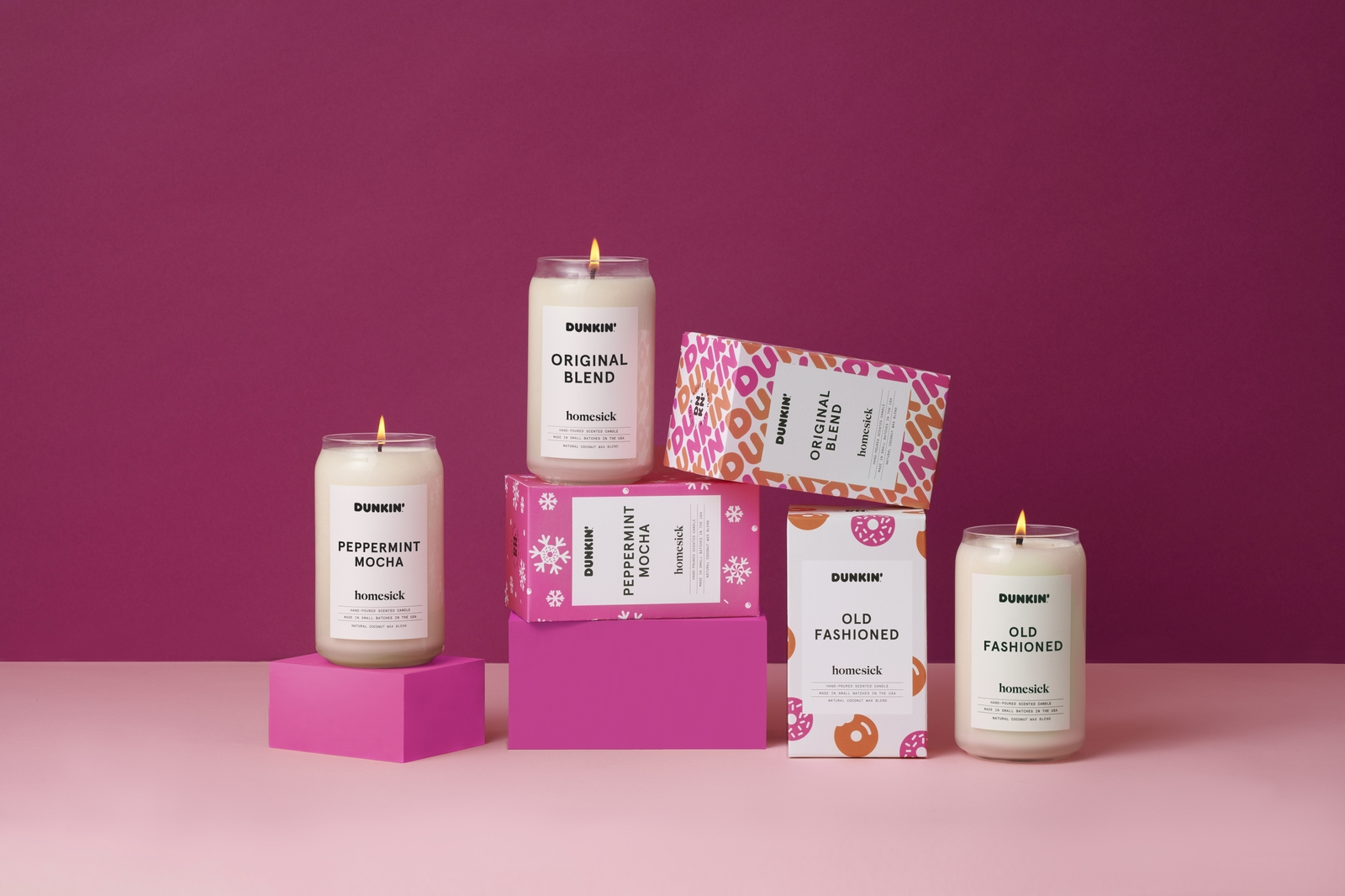 Homesick and Dunkin' Announce Fresh New Fragrances for the Holidays with Limited-Edition Candle Collection