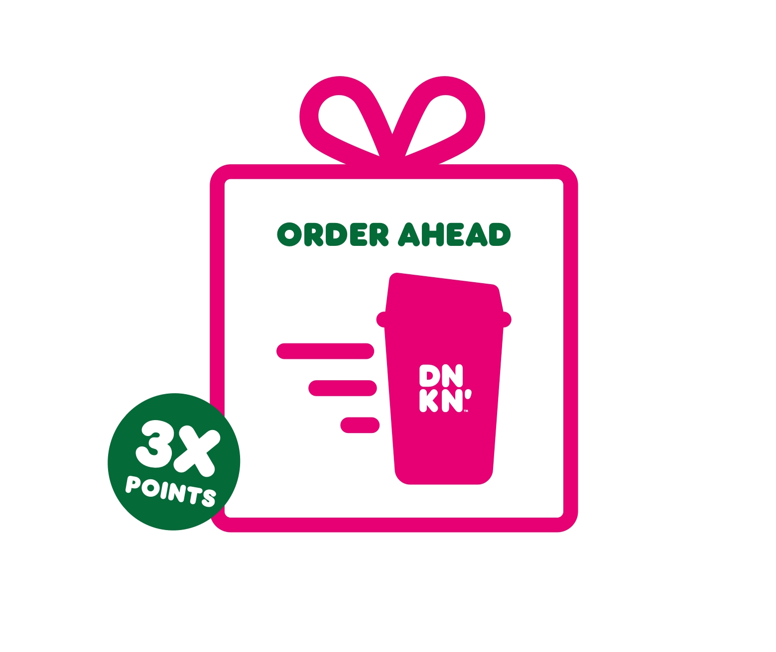 Order Ahead on the Dunkin' App to Unwrap 3X Points