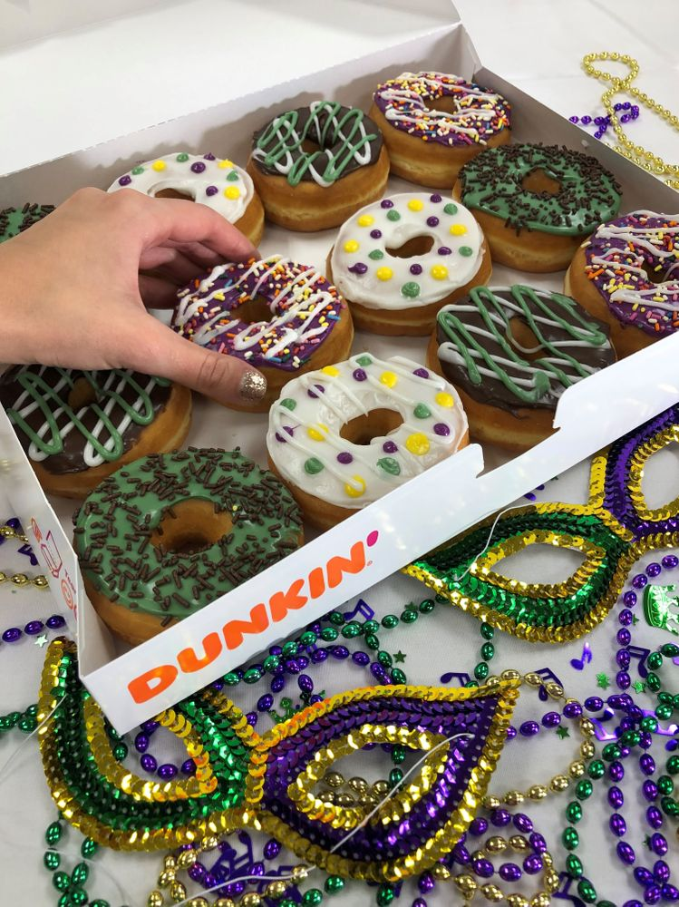 Celebrate the Last Day of Mardi Gras With 2X the Points and a Donut King Cake