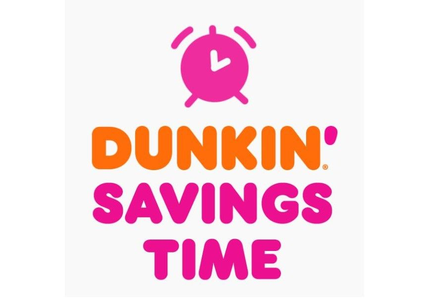 Lose an Hour, but Win Great Prizes with Dunkin' Savings Time