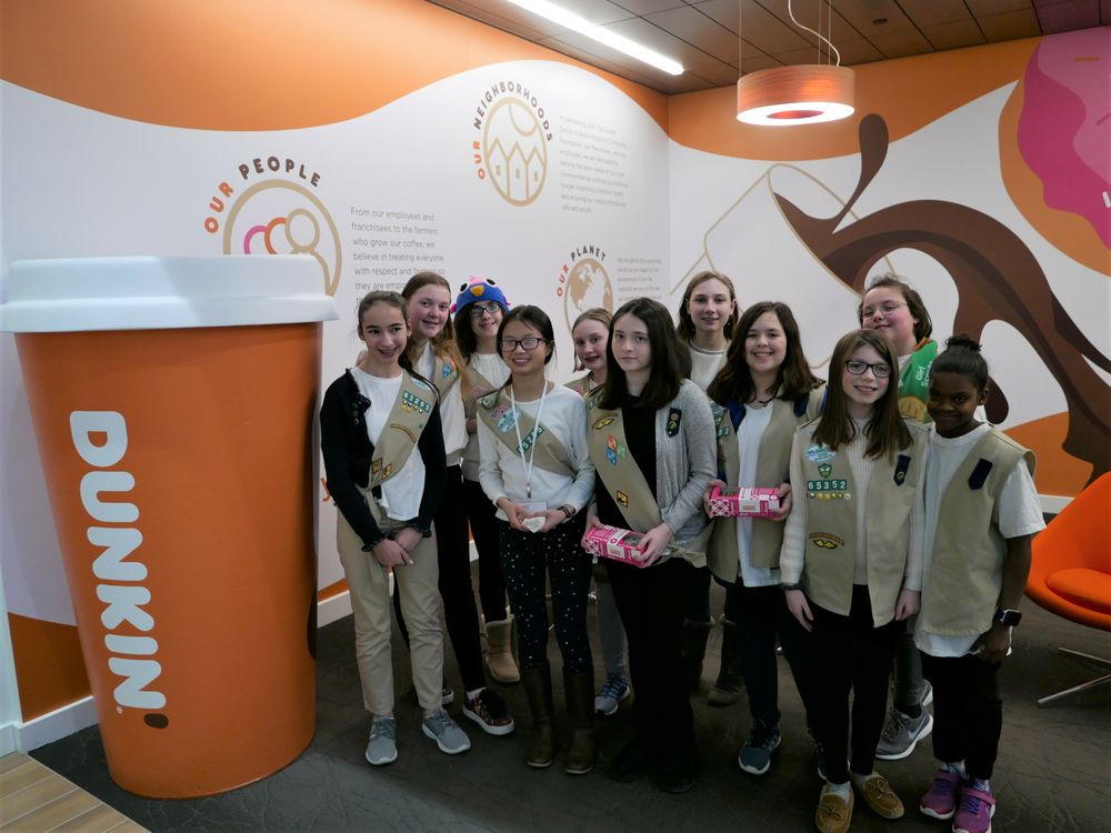 "Girl Scouts® ""Think Big"" with Dunkin' Female Leaders"