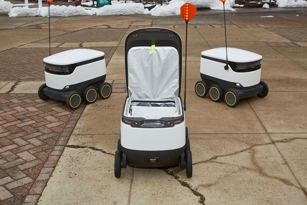 Dunkin' Runs on Starship Robots at George Mason University