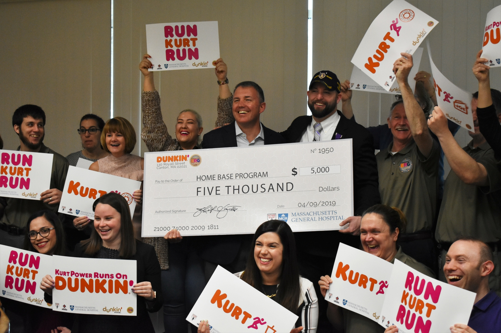 Dunkin' Supports Veteran Kurt Power's Boston Marathon Run for Home Base