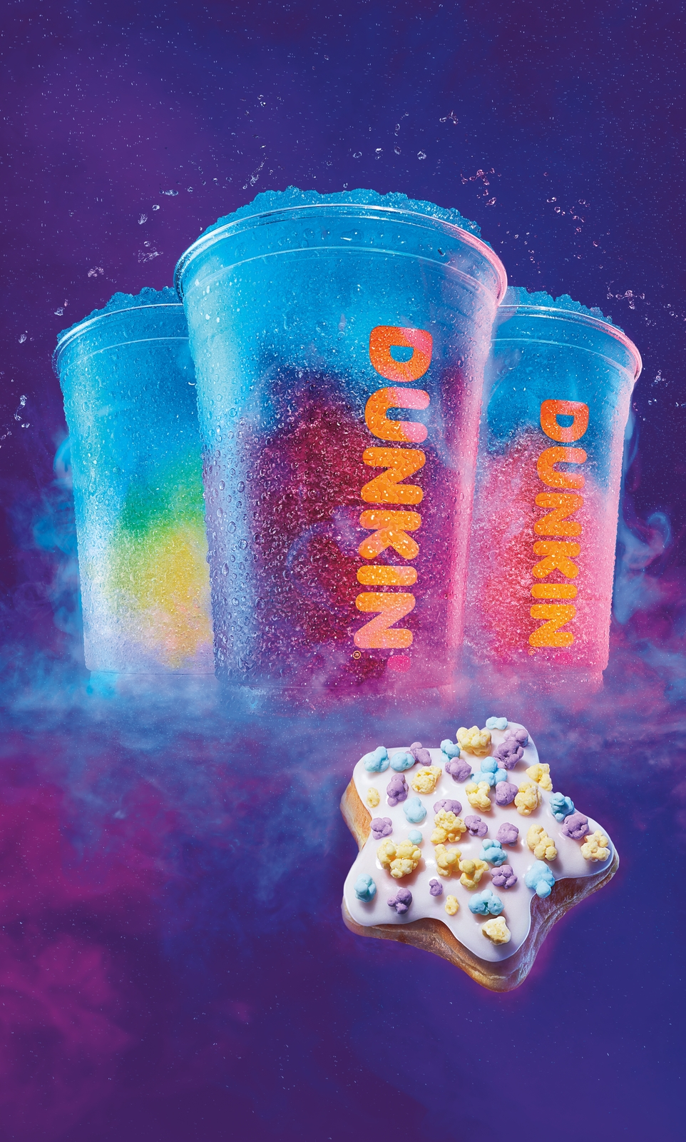 Dunkin's Out-of-This-World Seasonal Menu Features Cosmic COOLATTA® Frozen Beverages and Baskin-Robbins Ice Cream Flavored Coffees