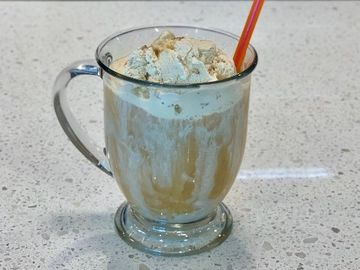 Double Butter Pecan Coffee Float