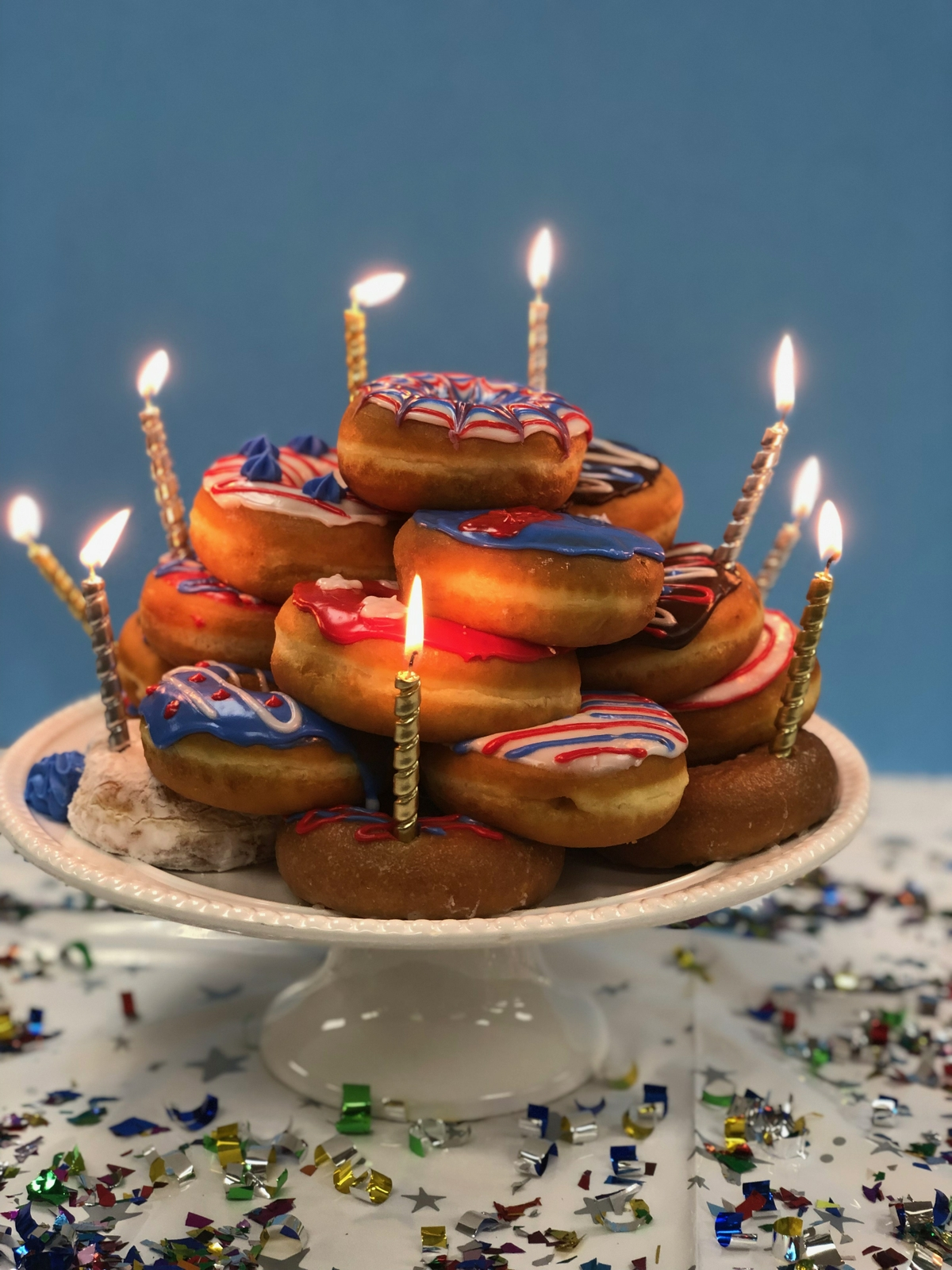 Enjoyable Celebrate The Fourth Of July With This Celebration Donut Cake Personalised Birthday Cards Paralily Jamesorg