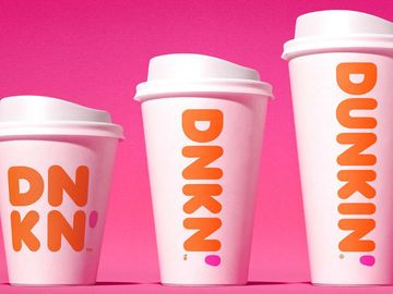 double-walled paper cup dunkin
