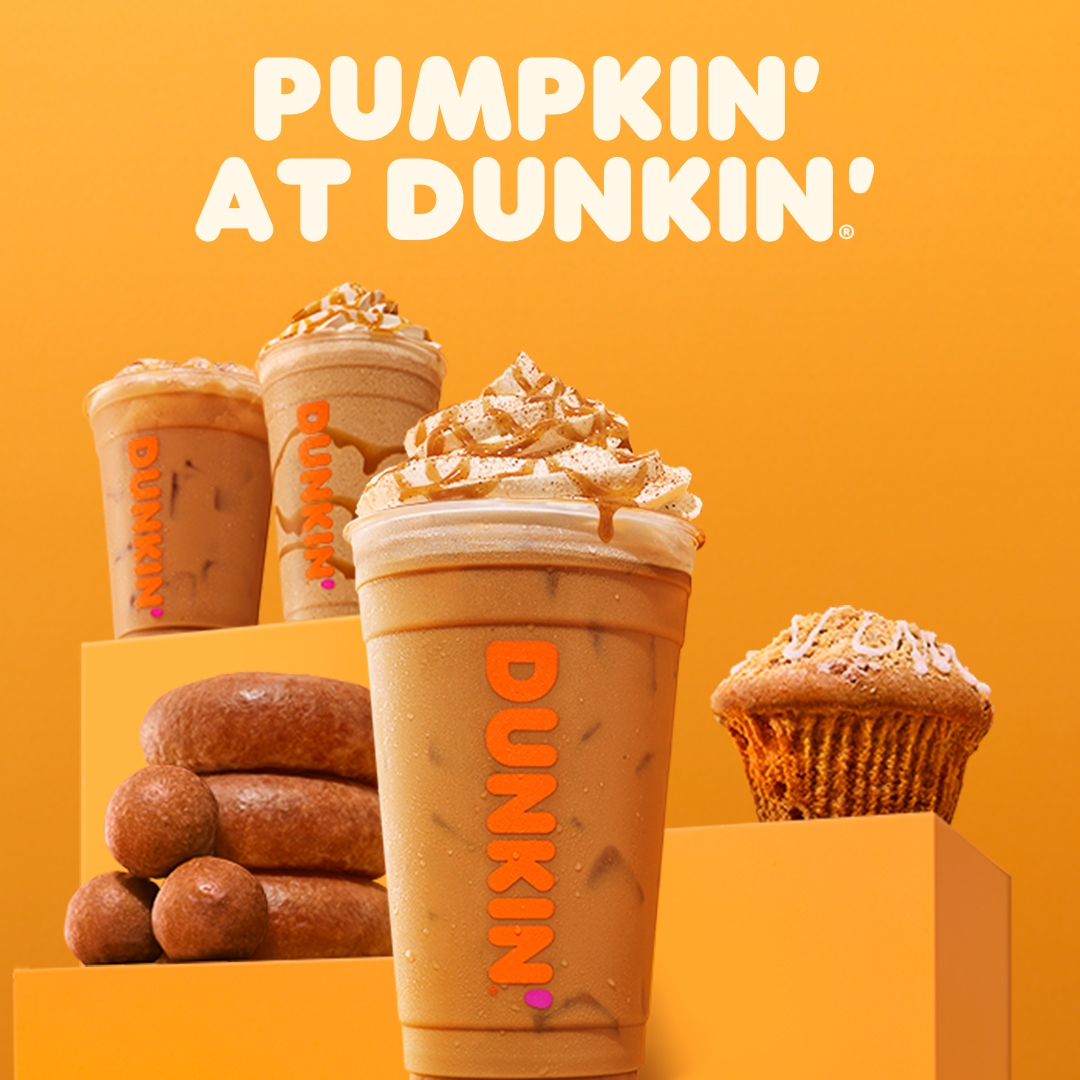 Dunkin' Offers Free Pumpkin Flavored Coffee at Eight Rebranded Pumpkin' Stores