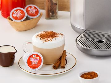 Get in the Fall Spirit with a Dunkin' Pumpkin Spice Caramel Cappuccino