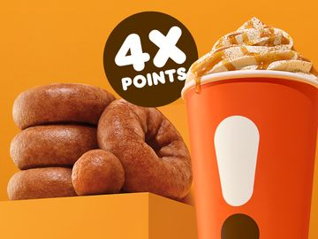 Celebrate the First Week of Fall with 4X DD Perks® Points