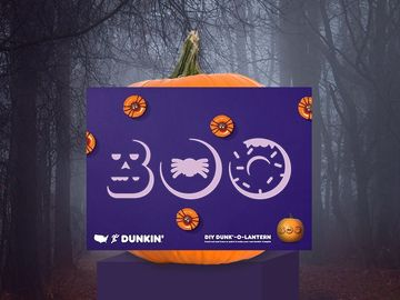 Check Out This DIY Dunkin'-Inspired Pumpkin Stencil