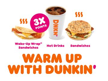 Get It While It's Hot: 3X Points for DD Perks® Members