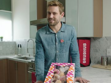 Dunkin' and Grubhub Surprise Hopeless Romantic Nick Viall with a Donut Bouquet