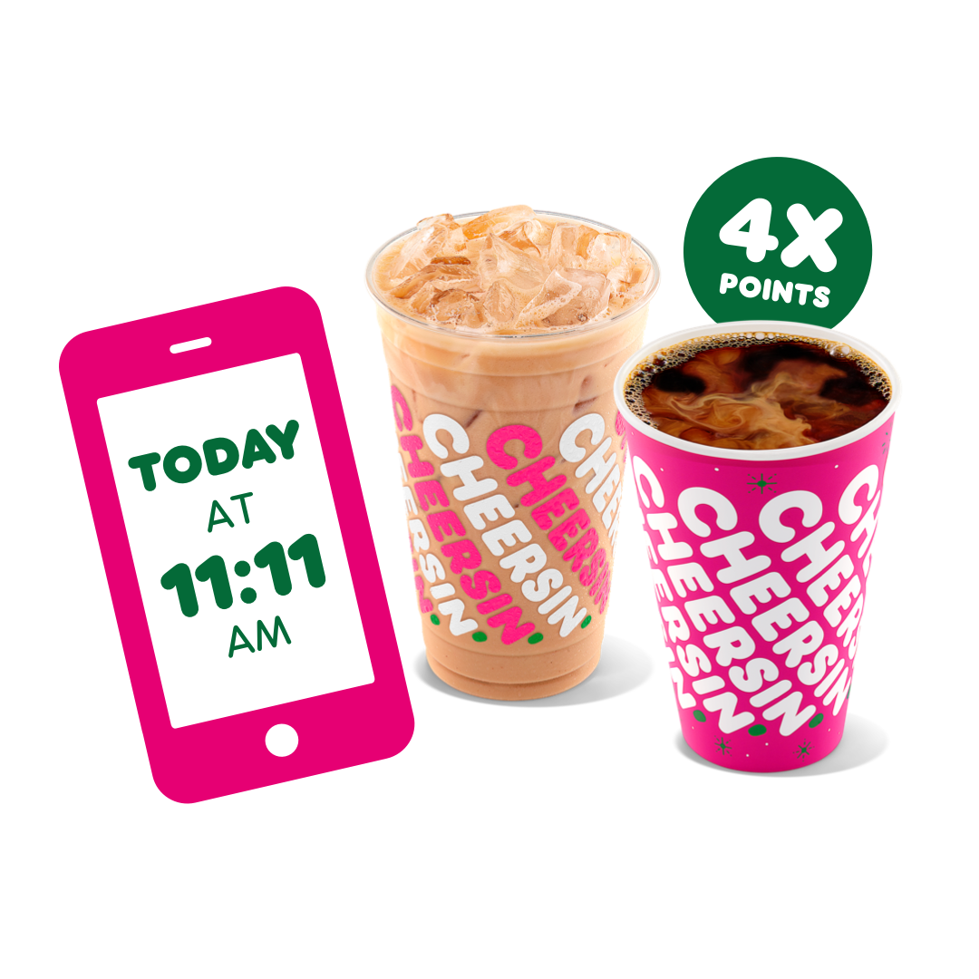 Your Wish for More Bonus Points Comes True Today at Dunkin'