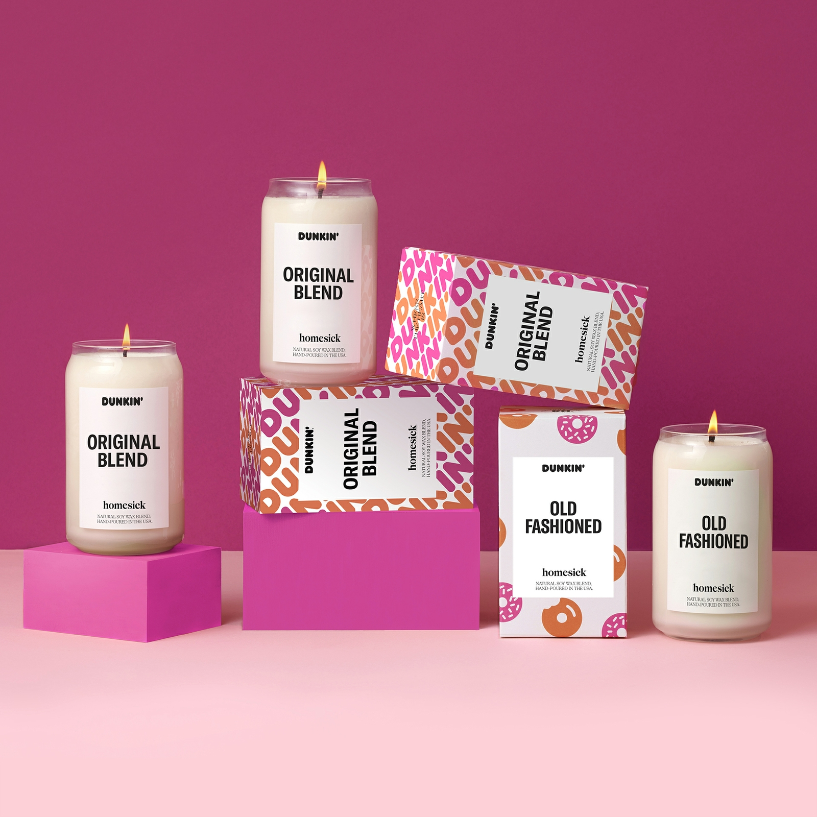 Homesick and Dunkin' Bring Back Limited-Edition Fan-Favorite Candles for the Holidays