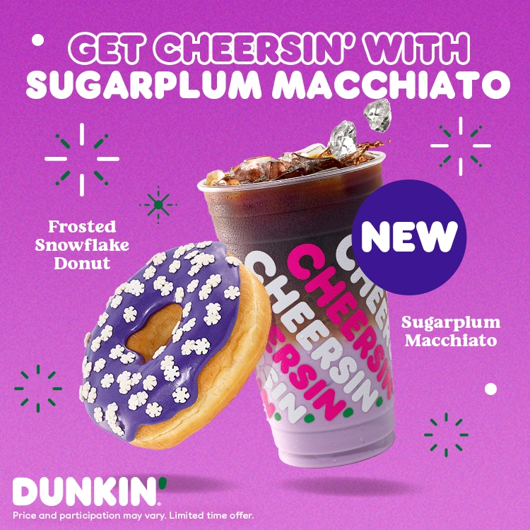 Visions of the Sugarplum Macchiato Dance Into Dunkin' This December