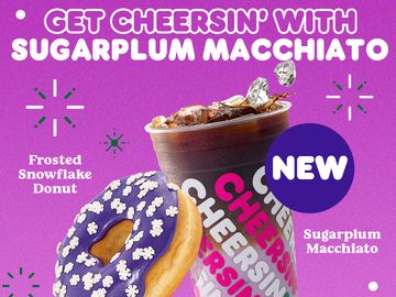 Visions of the Sugarplum Macchiato Dance Into Dunkin' This December