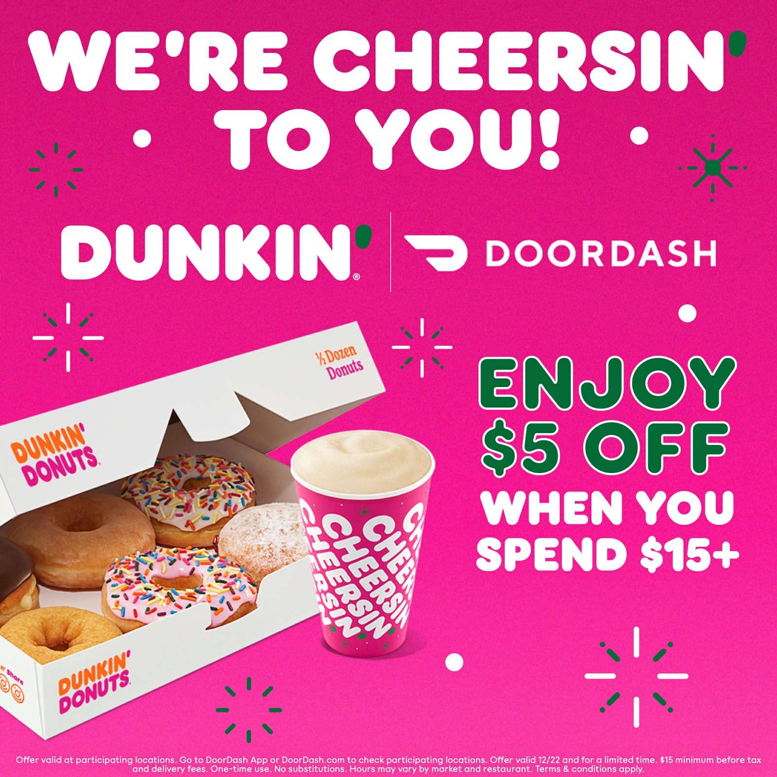 Dunkin' Makes the Holidays Merrier with a Sweet DoorDash Deal