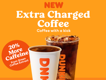 The Story Behind Dunkin's Extra Charged Coffee
