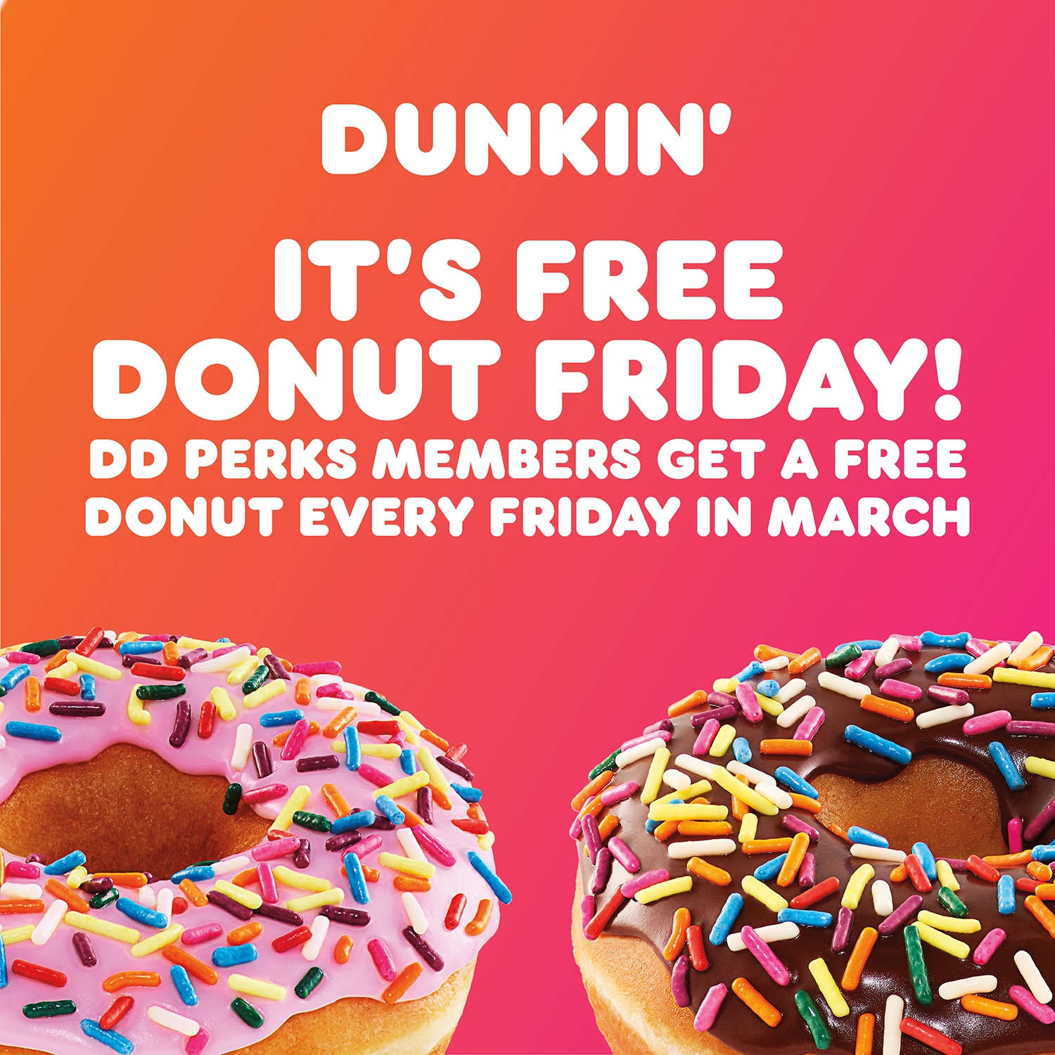 when is dunkin donuts free donut day